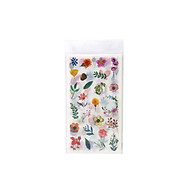 Flower Plants Sticker Self-Adhesive Decoration Stickers Washi Japanese Sticker 6 Sheets Pack for DIY Decoration Journals thumbnail