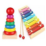 COMBO đàn gõ 8 thanh và xếp tháp 7 màu thumbnail