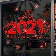 Decal trang trí nhà cửa, tết- Chữ 2021 nhấp nhánh-NQR209153 thumbnail
