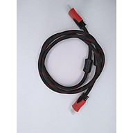 Dây cáp HDMI to HDMI dạng tròn, dài 1.5m bọc lưới, hai đầu chống nhiễu. thumbnail