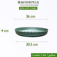 Combo 3 Đĩa lót chậu nhựa trồng cây MONROVIA 3 GL, chậu trồng cây, chậu cây cảnh mini, để bàn, treo ban công, treo tường, cao cấp, chính hãng thương hiệu MONROVIA thumbnail