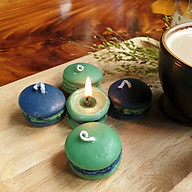 Set 5 Nến bánh Macaron tinh dầu trà xanh giúp thư giãn, giảm stress, thơm phòng - 80g thumbnail