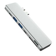 Cổng Chuyển Hub USB C, Type-C ra HDMI 4K 60hz usb 3.0 PD TF SD dành Cho Macbook Pro và Macbook Air thumbnail
