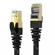 Dây cáp mạng CAT6A 2 đầu bấm sẵn, dạng dẹt AMPCOM, dài 1m đến 15m dây cáp bện dù chắc chắn AMCAT6A - Hàng chính hãng thumbnail