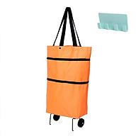 Túi xách đi chợ đa năng 2 in 1 có bánh xe kéo tiện dụng, giao màu ngẫu nhiên+ Tặng kèm móc treo sản phẩm 4 móc, giao màu ngẫu nhiên thumbnail