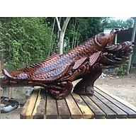Tượng cá Kim Long phong thủy gỗ Hương đá - Nhiều kích cỡ thumbnail