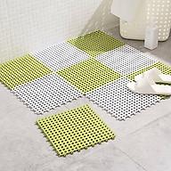 Combo 6 Tấm Thảm Nhựa Chống Trơn Trượt Nhà Tắm Lỗ Ghép Kháng Khuẩn (Giao Màu Ngẫu Nhiên ) thumbnail