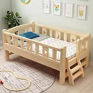 Giường ngủ trẻ em có cầu thang chất liệu gỗ thông. Tặng hộp bút màu nước thumbnail