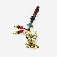 Móc Khóa Tượng Đồng Con Gà dùng để làm móc khóa, trưng trên bàn, làm quà tặng lưu niệm, kích thước 2.8 x 1 x 3cm, màu đồng - TMT Collection - SP005222 thumbnail