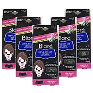 Combo 5 Hộp Miếng Dán Mũi Lột Mụn Than Hoạt Tính Biore Pore Pack Black dành cho nữ (1 hộp 4 miếng x 5) thumbnail