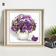 Bộ kit tranh đính đá hoa hồng tự làm trang trí phòng khách, phòng làm việc, phòng ngủ, cửa hàng, quán cà phê thumbnail