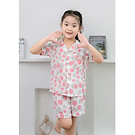 Pijama bé gái cam hồng size từ 15kg đến 20kg thumbnail