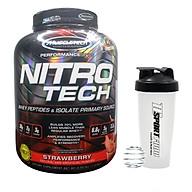 Combo Sữa tăng cơ cao cấp Nitro Tech của Muscletech hương Strawberry (dâu) hộp 4lbs hỗ trợ tăng cơ, giảm mỡ & Bình lắc 600ml (mẫu ngẫu nhiên) thumbnail