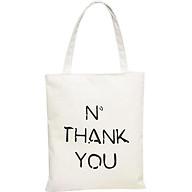 Túi Tote Vải Canvas No Thank You T026-B thumbnail