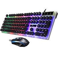 Bộ bàn phím và chuột G21 giả cơ nút tròn LED chế độ 7 màu - hàng nhập khẩu thumbnail