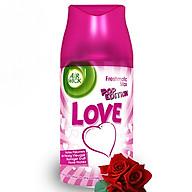 Bình xịt tinh dầu thiên nhiên Air Wick Love 250ml QT00252 - hương hoa hồng thumbnail