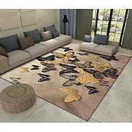 Thảm trải sàn Sofa sang trọng hiện đại trang trí phòng khách Bali in 3D Nhung nỉ lì cao cấp BL09 - Khối tròn vàng - BL26- Bướm Vàng - 2m x 3m thumbnail