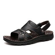 Dép sandals cho nam bằng da thật thiết kế đế mềm kiểu dáng mới mã DQH10321 thumbnail