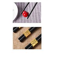 Hộp 10 đôi đũa mạ vàng sang trọng, quý phái, dài 27cm - Hàng nhập khẩu thumbnail