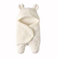 Chăn Ủ Kén ( Túi Ngủ ) Lông Cừu Mềm Mịn Cho Bé Từ 0 - 6th - Tặng 1 yếm giấy ăn dặm thumbnail
