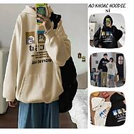 Áo khoác hoodie Chống Nắng Cho nam nữ in hình CUTE, unisex form rộng có MỦ ulzzang ảnh thật thumbnail