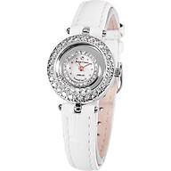 Đồng hồ nữ chính hãng Royal Crown 5308 dây da trắng thumbnail