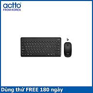 Combo bàn phím và chuột không dây kiểu dáng Mini Retro Keyboard & Mouse Actto KMC-03 HÀNG CHÍNH HÃNG BLACK thumbnail