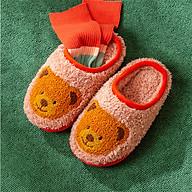 Dép Sục Bông Trẻ Em Lót Lông Cheerful Mario TL-8007 Siêu Mềm Siêu Nhẹ Chống Trơn Trượt Cho Bé (Kèm Tất Babylovego B101) thumbnail