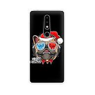 Ốp lưng dẻo cho điện thoại Nokia 6.1 plus X6 - 01171 7939 BULLDOG03 - Bulldog chúc mừng Giáng Sinh - Hàng Chính Hãng thumbnail