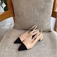 Giày Sandal Nữ Bít Mũi Có Quai Hậu Gót Vuông 5 cm - Giày Bít Mũi Hở Gót Có Quai Hậu thumbnail