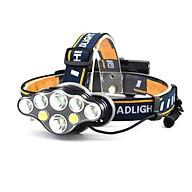 Đèn Pin LED đội đầu siêu sáng 8 bóng led (2T6+4XPE+2COB) - kèm 2 pin sạc thumbnail