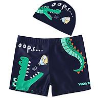 Combo quần + nón bơi cho bé hình cá sấu thoải mái ngộ nghĩnh Cleacco - Hàng chính hãng thumbnail