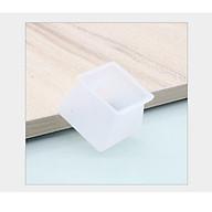 4 Vỏ bọc chân bàn ghế silicon dày hình vuông, miếng silicon dày bọc chân bàn ghế chống trượt [tặng móc dán tường] thumbnail