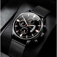 Đồng hồ nam dây thép chạy lịch ngày CORO01 thumbnail