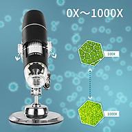 Kính hiển vi soi côn trùng có đèn led kết nối không dây qua wifi phóng đại 1000X thông minh (Tặng 3 nút kẹp cao su giũ dây điện -màu ngẫu nhiên) thumbnail