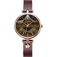 Đồng hồ nữ Julius Hàn Quốc JA-1145 dây thép mặt lăng kính 3d thumbnail