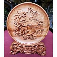 Đĩa gỗ bày bàn - chữ Lộc, cha mẹ, ,lý ngư vọng nguyệt, tứ linh, chân dung Bác Hồ thumbnail