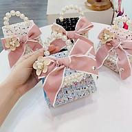 Túi Xách Quai Ngọc Đính Hoa Siêu Xinh Dành Cho Bé (4 màu) thumbnail