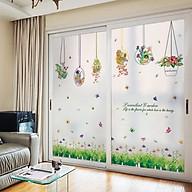 Combo 2 decal giỏ hoa và vườn hoa đầy màu sắc cho bé + Tặng stick bất kỳ thumbnail