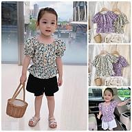 ATG15Size 90-130 (6-25kg)Áo kiểu croptop vải kate xô cho bé gáiThời trang trẻ Em hàng quảng châu thumbnail