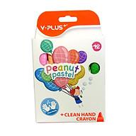 Bút sáp màu peanut Yplus 12 màu pastel CR2001 thumbnail