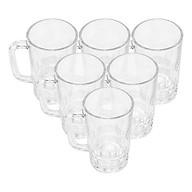 Bộ ly 6 cái Union Glass 999 Ly bia khía tròn 385 ml không nga ma u, sa n xuâ t Tha i Lan thumbnail