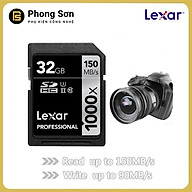 Thẻ nhớ Lexar SDHC 32GB Pro 1000X 150mb s, UHS II U3 Dành cho máy ảnh (Hàng nhập khẩu) thumbnail