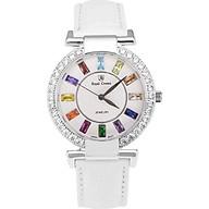 Đồng hồ nữ chính hãng Royal Crown 4604 dây da trắng thumbnail