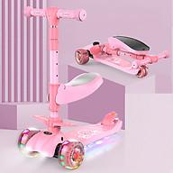 Xe scooter 3 bánh tự cân bằng, 3in1 có ghế gấp gọn, xe chòi chân thăng bằng , xe trượt 3 bánh có nhạc và đèn chiếu sáng thumbnail