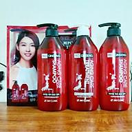 Bộ 2 dầu gội 1 dầu xả tinh chất nhân sâm đỏ 3W CLINIC AGING CARE RED GINSENG SHAMPOO & TREATMENT thumbnail