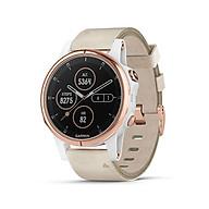 Đồng hồ thông minh Garmin Fenix 5S Plus, Sapphire, Vàng hồng với dây da màu be, GPS, SEA_010-01987-80 - Hàng Chính Hãng thumbnail
