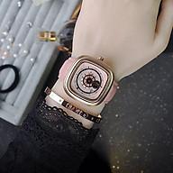 Đồng hồ nữ Guou chính hãng 8150 mặt vuông dây da kiểu dáng độc đáo thumbnail