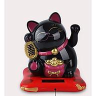 Mèo thần tài Maneki Neko vẫy tay pin mặt trời - M thumbnail