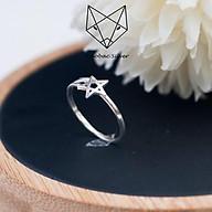 Nhẫn Nữ Bạc Ta CaoBac Silver Kiểu Dáng Hai Sợi Sao SN040 thumbnail